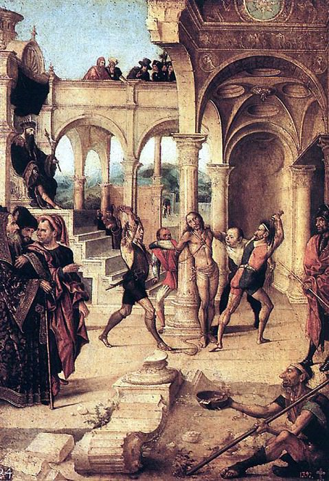 FERNANDEZ Alejo The Scourging Of Christ. Испанские художники