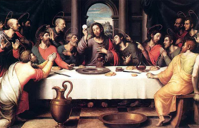JUANES Juan de The Last Supper. Spanish artists