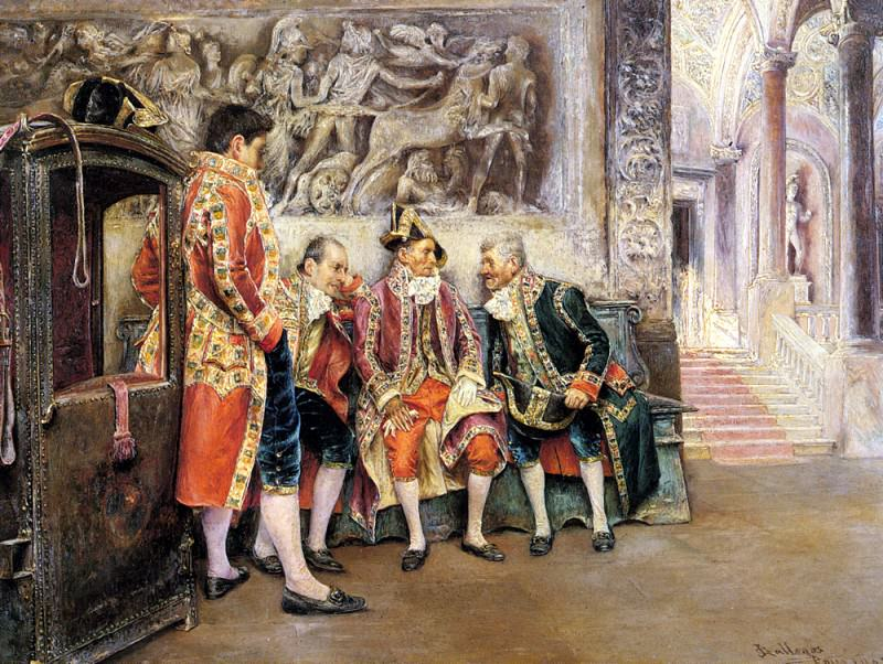 Arnosa Jose Gallegos Y Waiting For His Eminence. Spanish artists