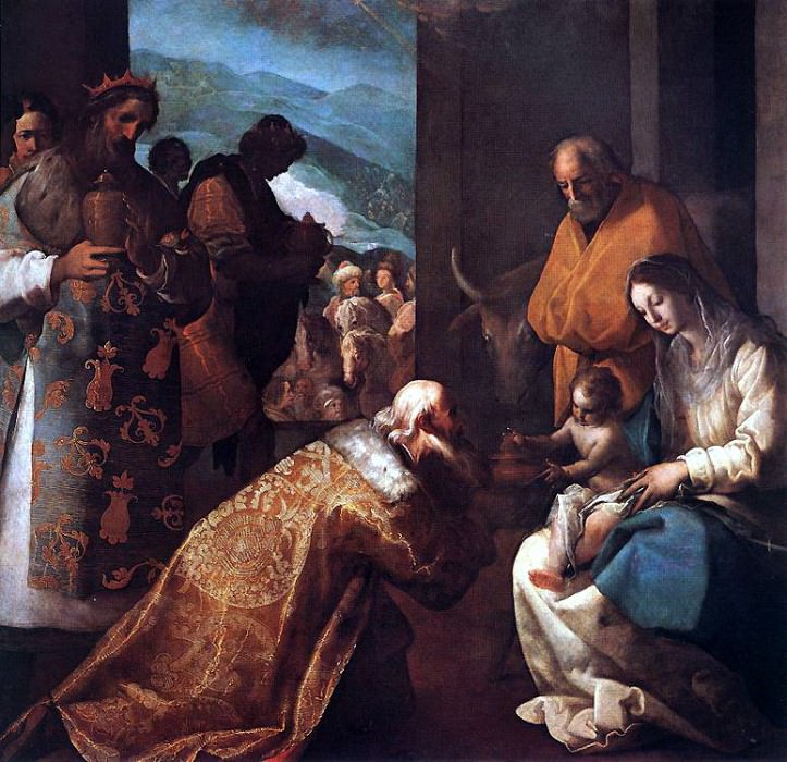 CAJES Eugenio The Adoration Of The Magi. Spanish artists