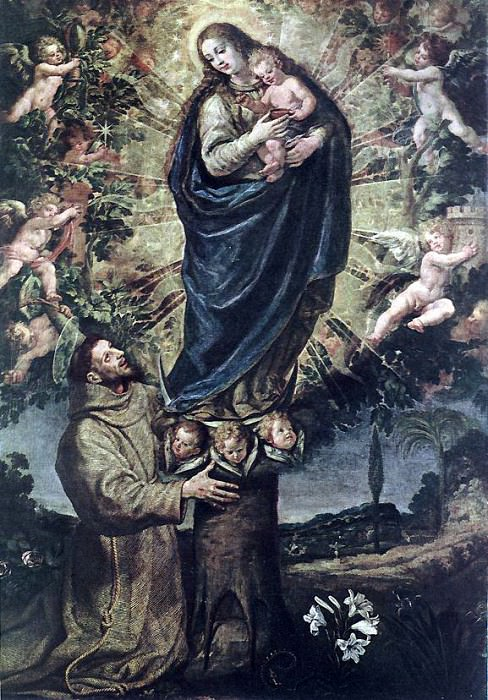 CARDUCHO Vicente Vision Of St Francis Of Assisi. Spanish artists