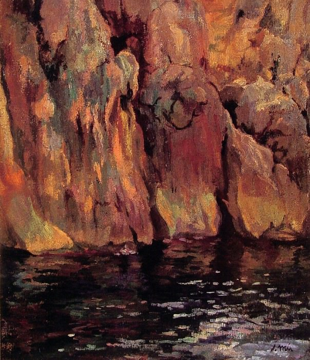 the grotto. Spanish artists