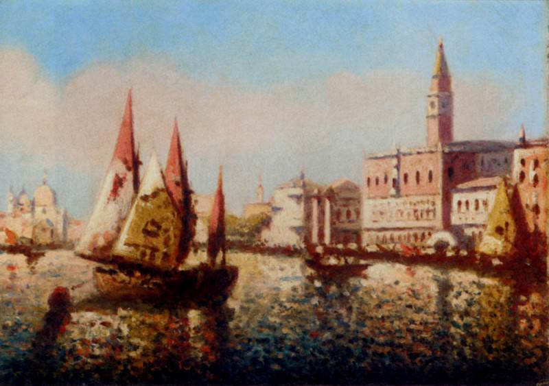 Miro Joaquin Trading Vessels In The Bacino Di San Marco Venice. Spanish artists