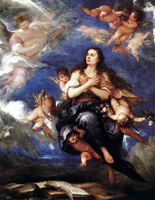 ANTOLINEZ Jose Assumption Of Mary Magdalene. Spanish artists