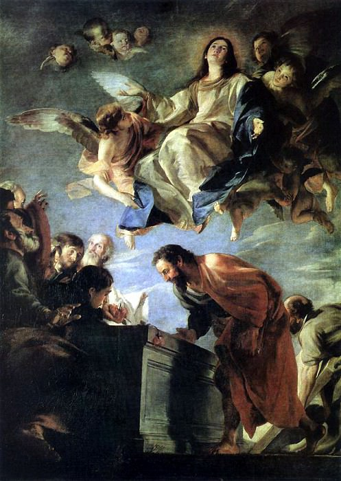 CEREZO Mateo Assumption Of mary. Испанские художники