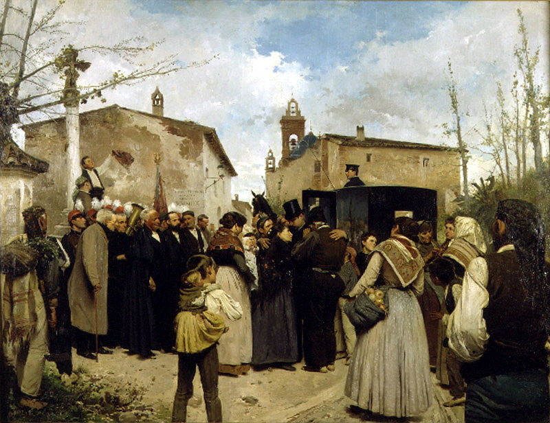 Granell Antonio Fillol La gloria del pueblo. Spanish artists