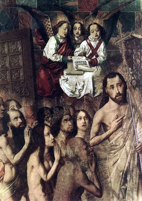 BERMEJO Bartolome Christ Leading The Patriarchs To The Paradise detail. Spanish artists