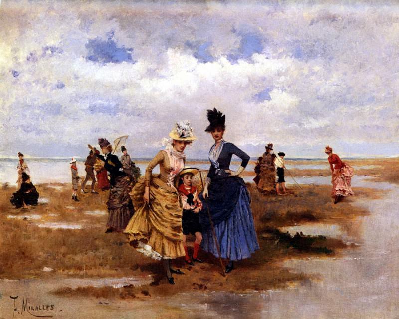 Galup Francisco Miralles y Sur La Plage. Spanish artists