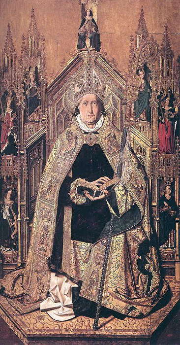 BERMEJO Bartolome St Dominic Enthroned In Glory. Spanish artists
