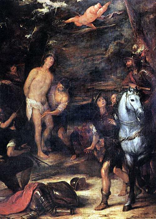 ANTOLINEZ Jose Martyrdom Of St Sebastian. Испанские художники