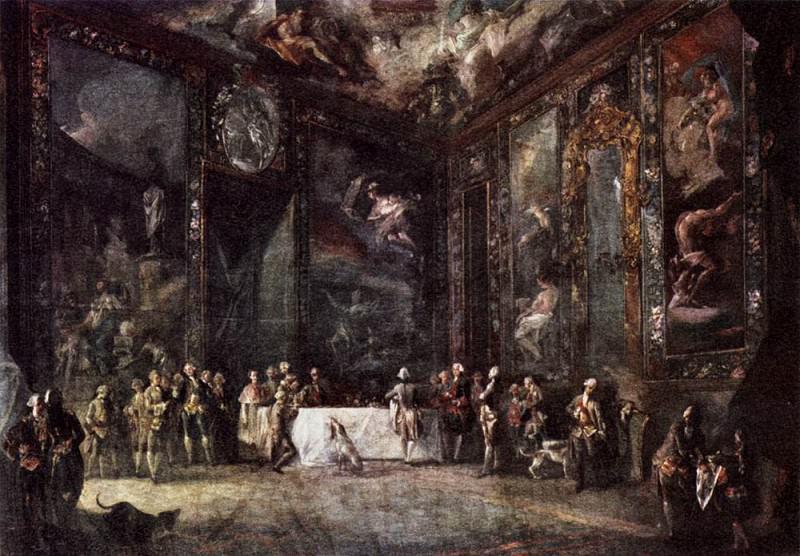 PARET Y ALCAZAR Luis Charles III Dining Before The Court. Испанские художники
