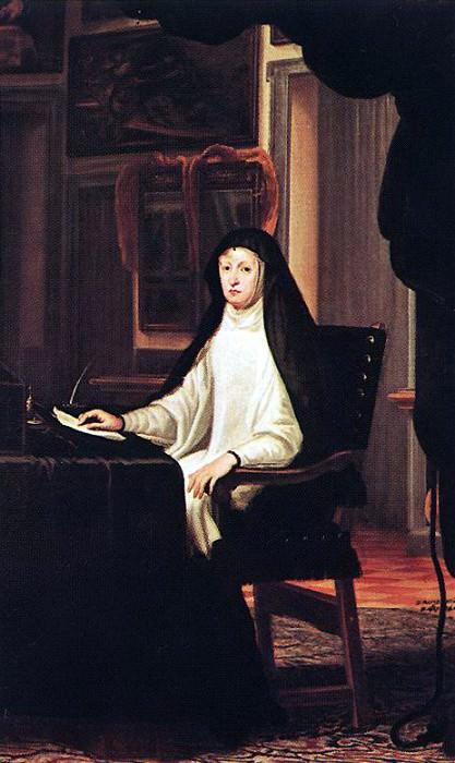 CARRENO DE MIRANDA Juan Queen Mary Anne Of Austria As A Widow. Испанские художники