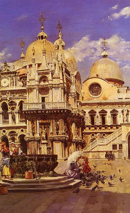 Sanz Ulpiano Checa y Piazza San Marco. Spanish artists