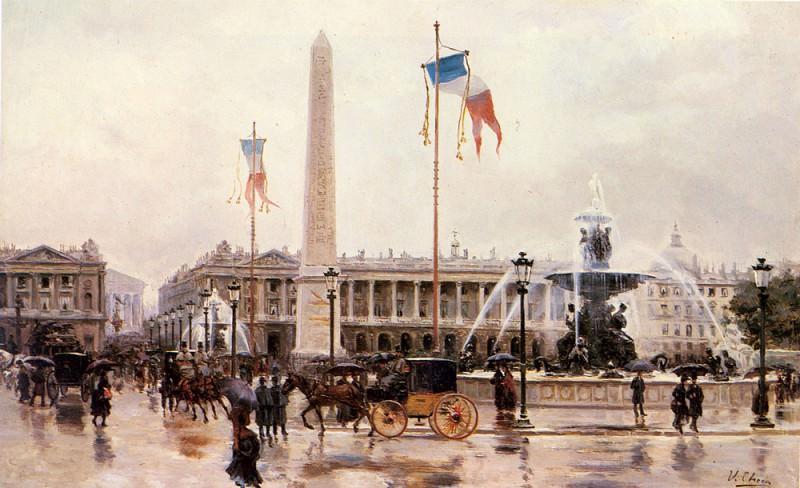 Checa Y Sanz Ulpiano A View Of The Place De La Concorde. Spanish artists