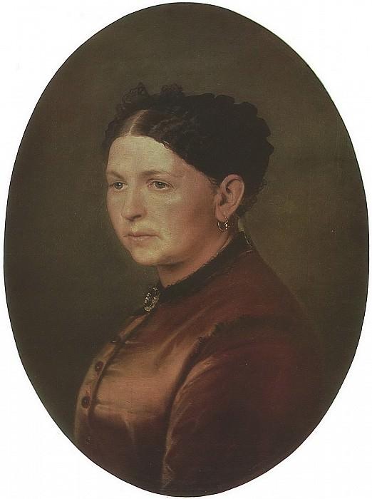 Портрет Ф. И. Резановой. 1868 Х. , м. 63х53 Челябинск. Василий Григорьевич Перов