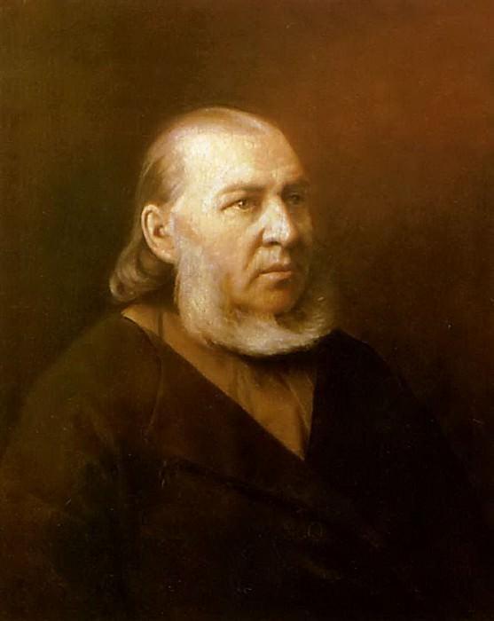 Portrait of the writer Sergei Timofeevich Aksakov. 1872 Saratov. Vasily Perov