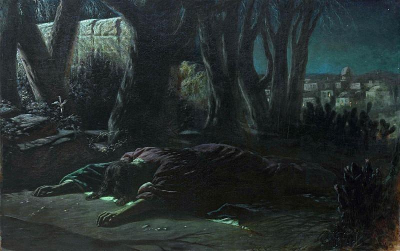 Christ in the Garden of Gethsemane. Vasily Perov