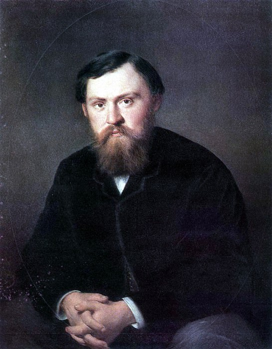 Portrait of AA, Borisov. H. 1869, 89h71 am GRM. Vasily Perov