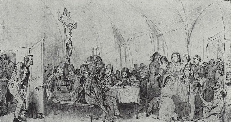 meal. 1865 Fig. 15, 3h27, 2 TG. Vasily Perov