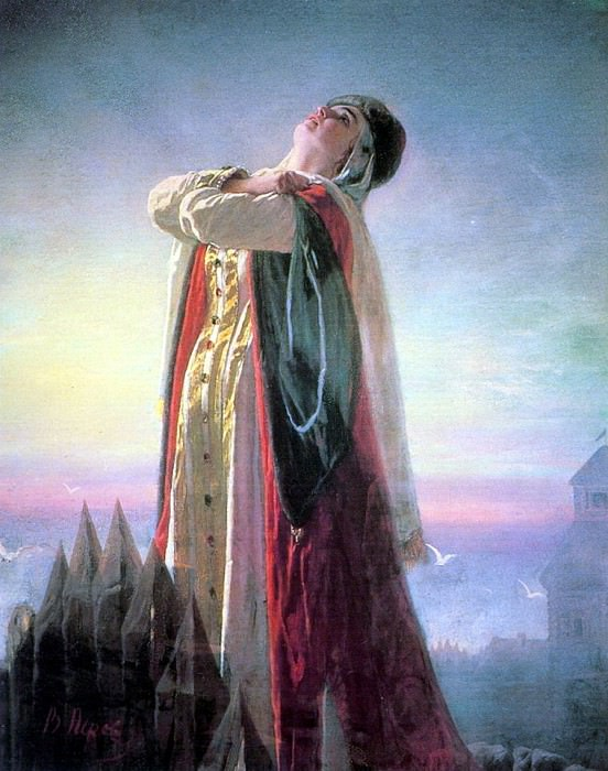 Lamentations Yaroslavna. 1881. Vasily Perov