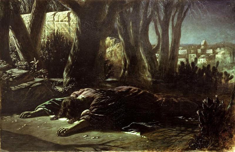 Christ in Gethsemane. 1878 Oil on canvas. 151. 5x238 TG. Vasily Perov