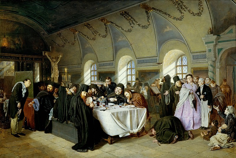 Meal (Monastic Refectory). Vasily Perov