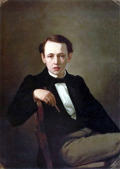 Self-portrait. H. 1851, 77h59 pm, 5 KMRI. Vasily Perov