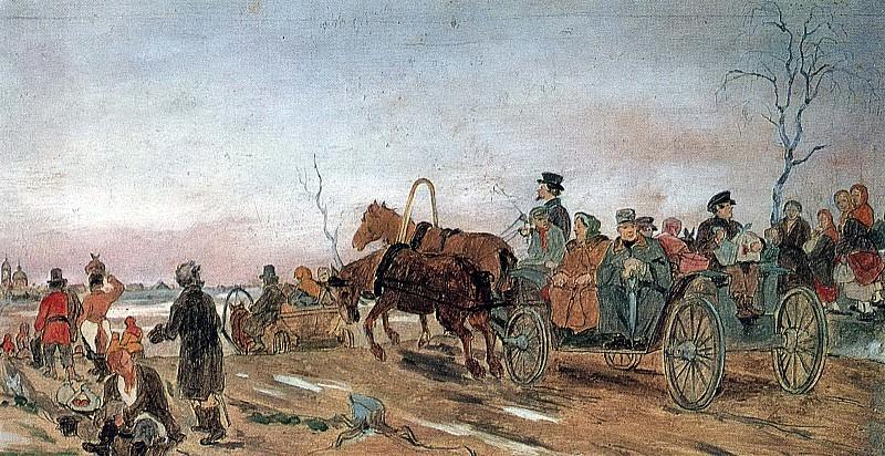 Вечер в Великую Субботу. 1873 Б. на к. , м. 20, 2х39, 1 ГТГ. Василий Григорьевич Перов