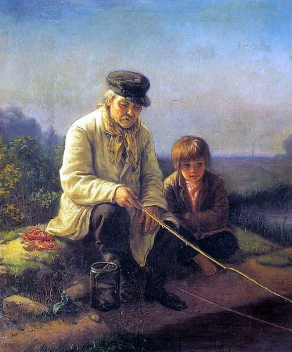 Fishing. Vasily Perov