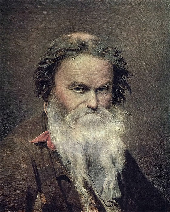 Фомушка-сыч. 1868 Д. , м. 44, 8х36, 8 ГТГ. Василий Григорьевич Перов