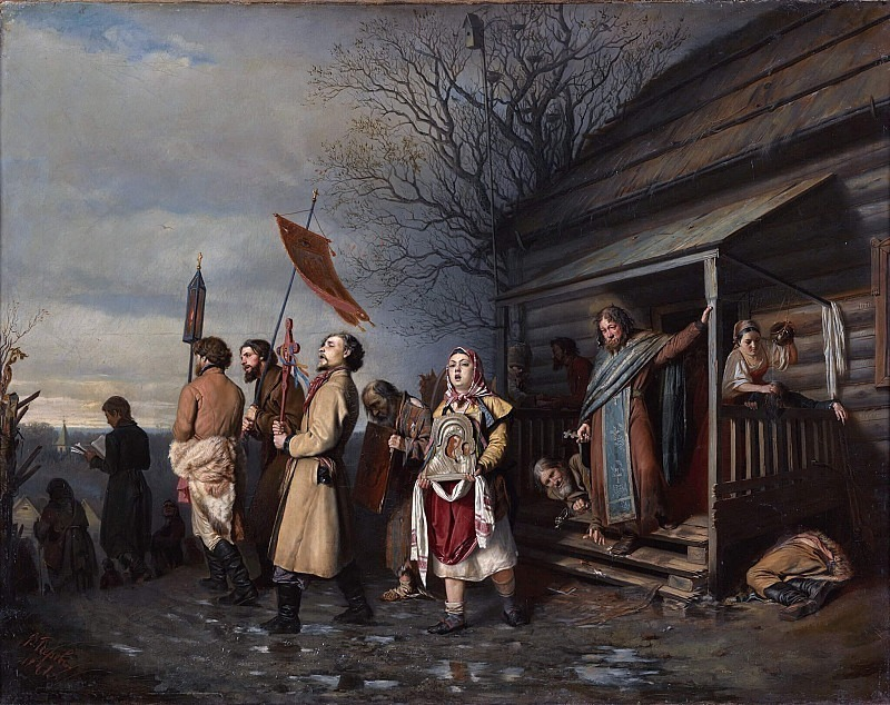 Easter religious procession on Easter. Vasily Perov
