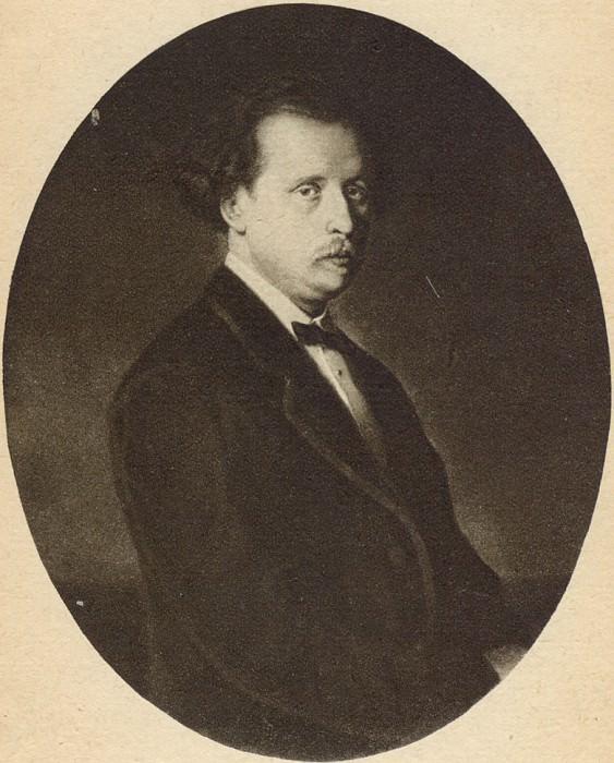 Portrait of Nikolai Rubinstein. H. 1870, m. 102. 5h79 TG. Vasily Perov