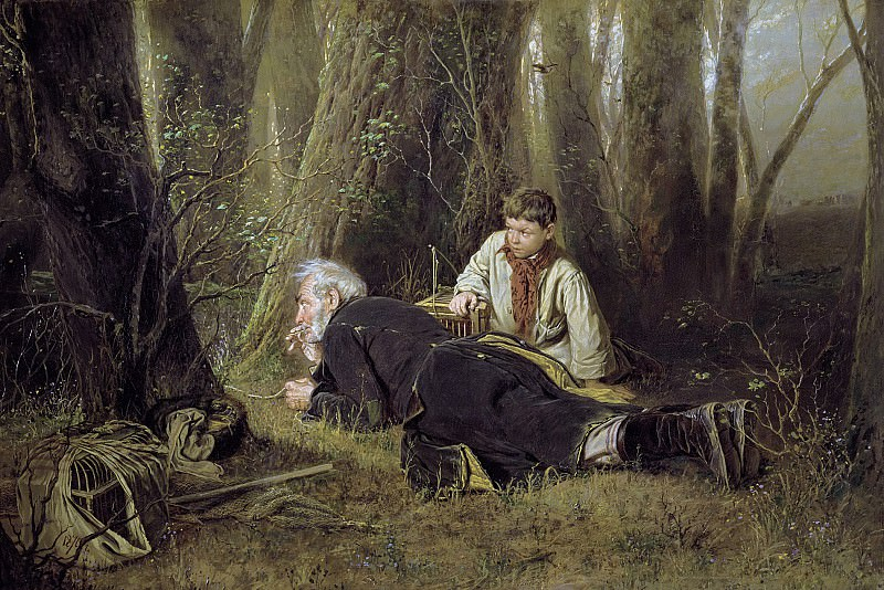 Fowler. 1870. Oil on canvas. 83h126 TG. Vasily Perov