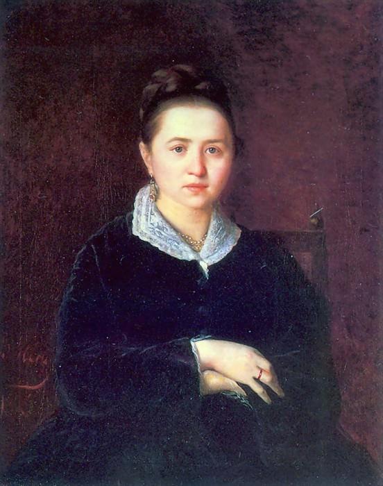 Portrait of Sergeeva Anna Ivanovna. 1875. Vasily Perov