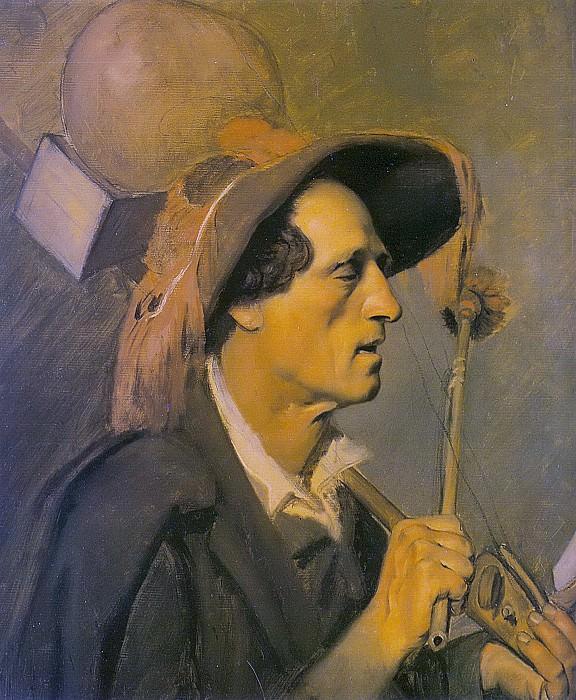 blind musician. Ok. 1864 (c. Et. Seller singers in Paris, TG). H., m. 55, 5h48 TG. Vasily Perov
