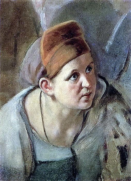 bent figure of a woman. B. K., m. 26, 5h18, 5 KMRI. Vasily Perov