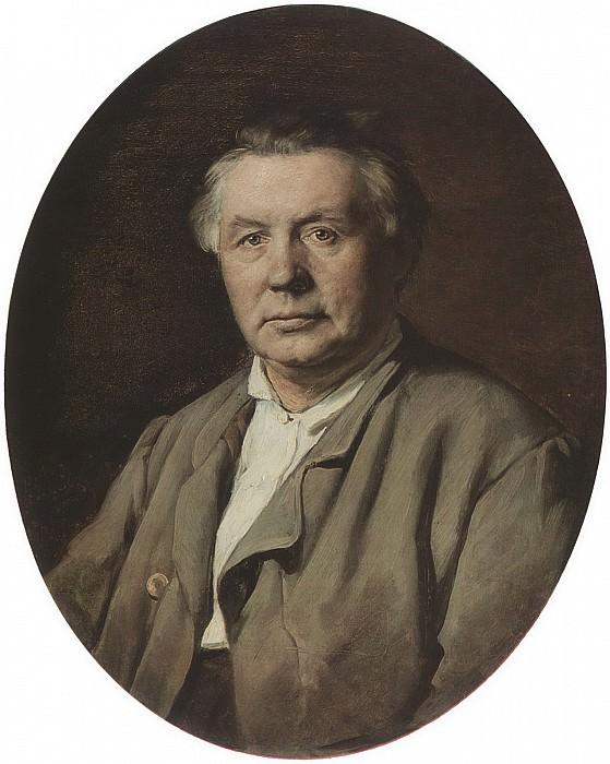 Portrait of the unknown. H. 1870, 75h61 am GTG. Vasily Perov