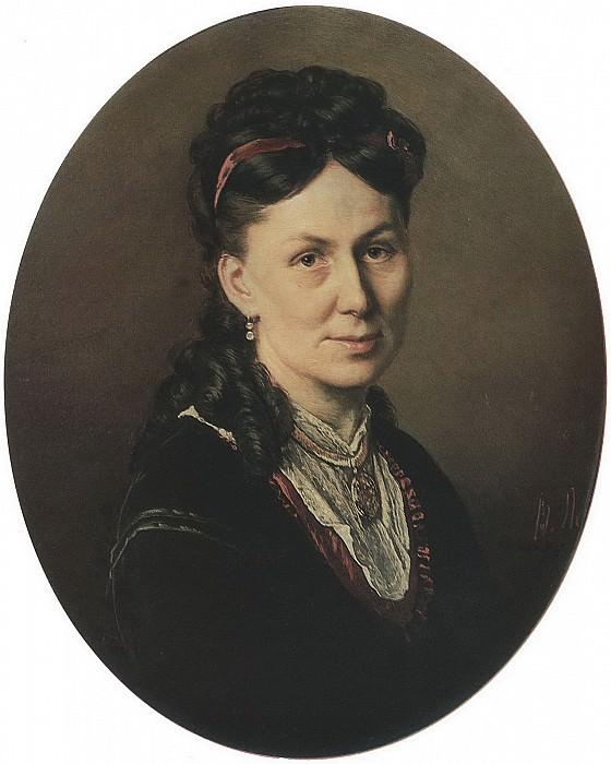 Portrait Avdotya Kuznetsova. H. 1870, m. 61, 5h54 Klaipeda. Vasily Perov