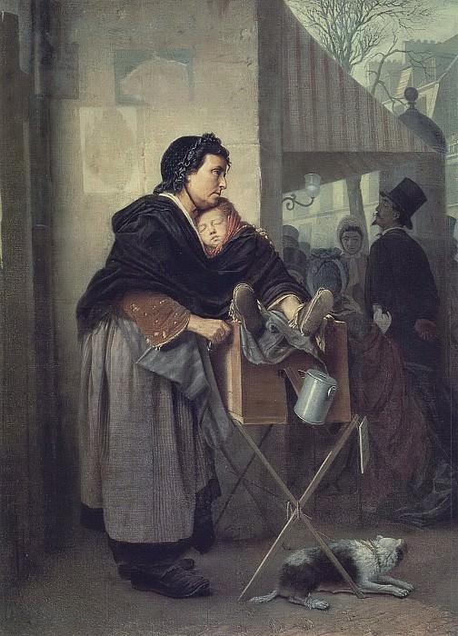 Paris sharmanschitsa. H. 1864, m. 76, 2h56 GTG. Vasily Perov