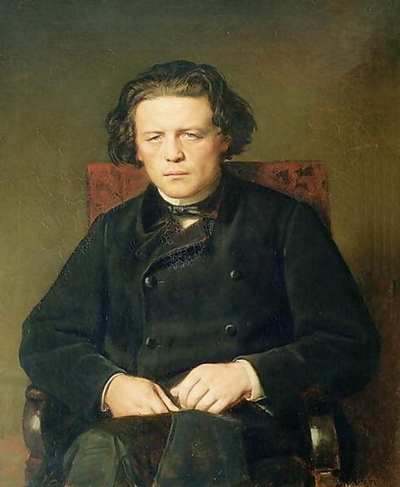 Portrait of Anton Rubinstein. 1870 H., M., 96x80 Gos. muses. music. cult. them. Glinka, M.. Vasily Perov