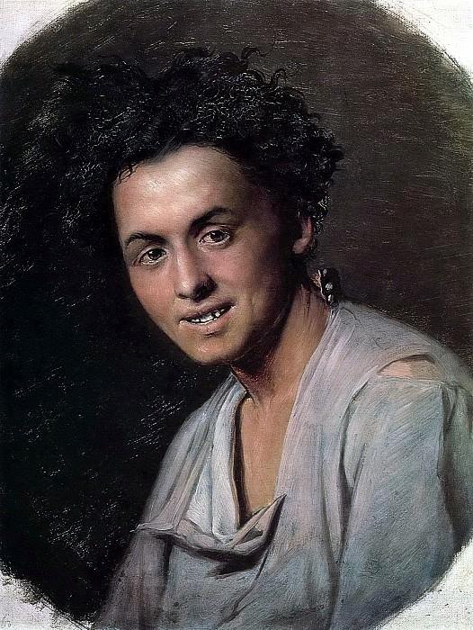 Small seventeen (baker). Sketch. H. 1869, 58h48 pm, 5 RM. Vasily Perov