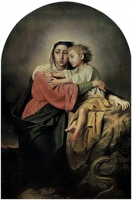 Христос и Богоматерь у житейского моря. 1867 Х. , м 155х103 ГТГ. Василий Григорьевич Перов