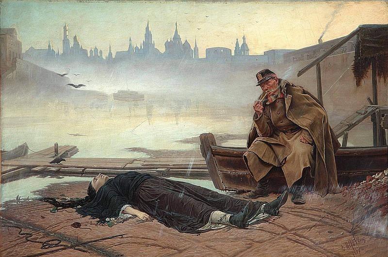 Drowned woman. Vasily Perov