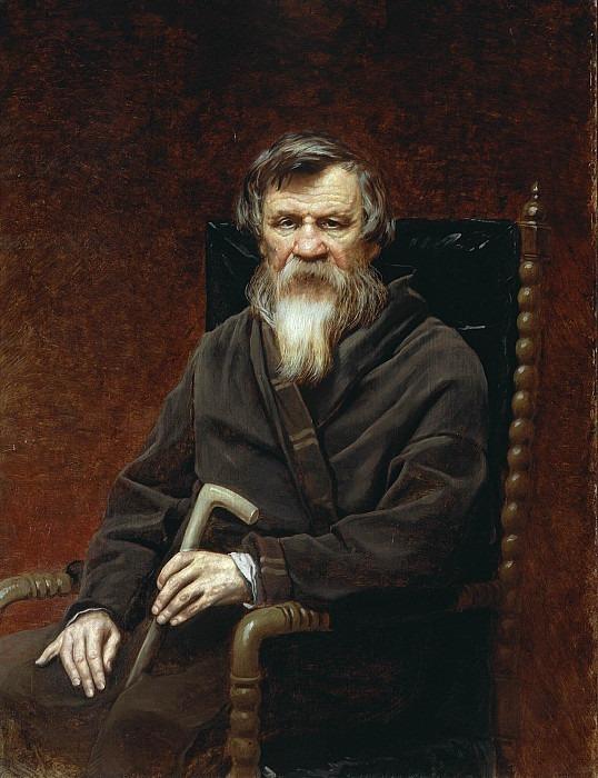 Portrait of the historian Mikhail Petrovich Pogodin (1800-1875). Vasily Perov