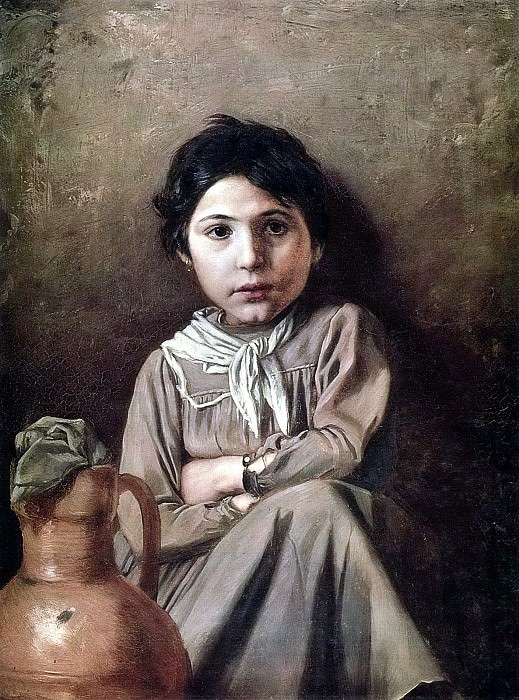 Girl with a jug. J. 1869, 72h53 am GRM. Vasily Perov