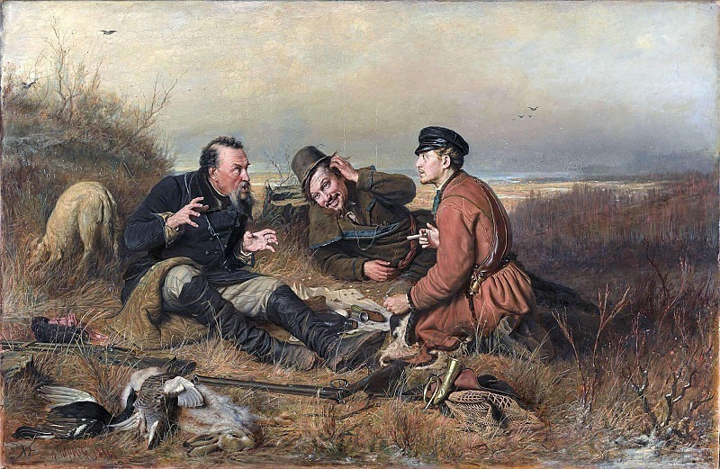 Hunters at rest. Vasily Perov