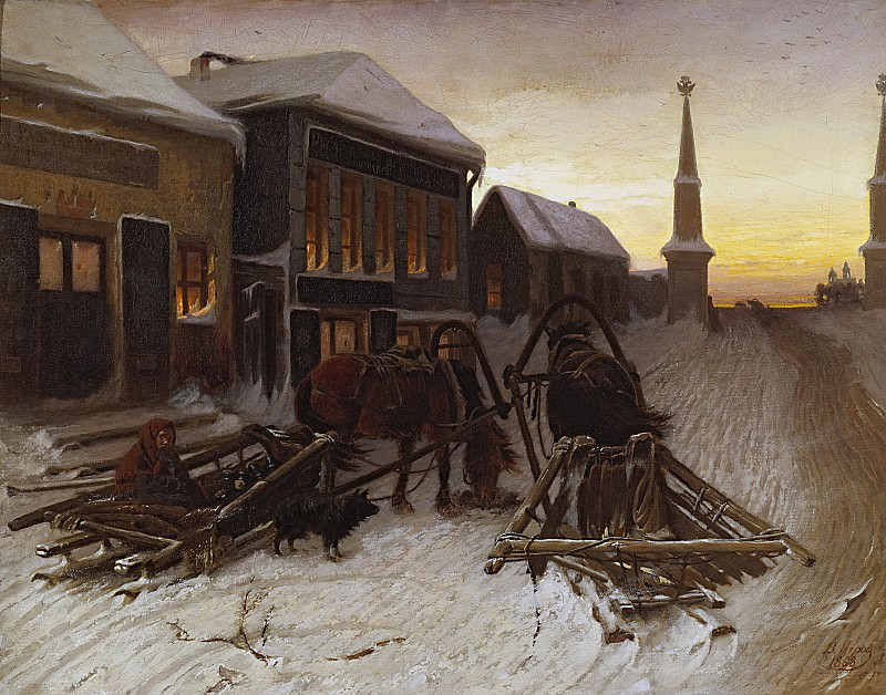 Последний кабак у заставы. 1868 Х. , м. 51, 1х65, 8 ГТГ. Василий Григорьевич Перов