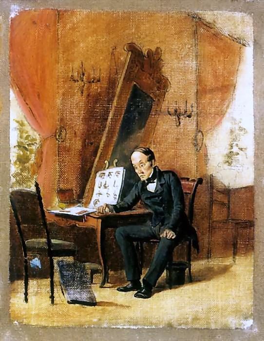 Master drawing. Esk. 1863 H., am 25. 5h18 Ivanovo. Vasily Perov