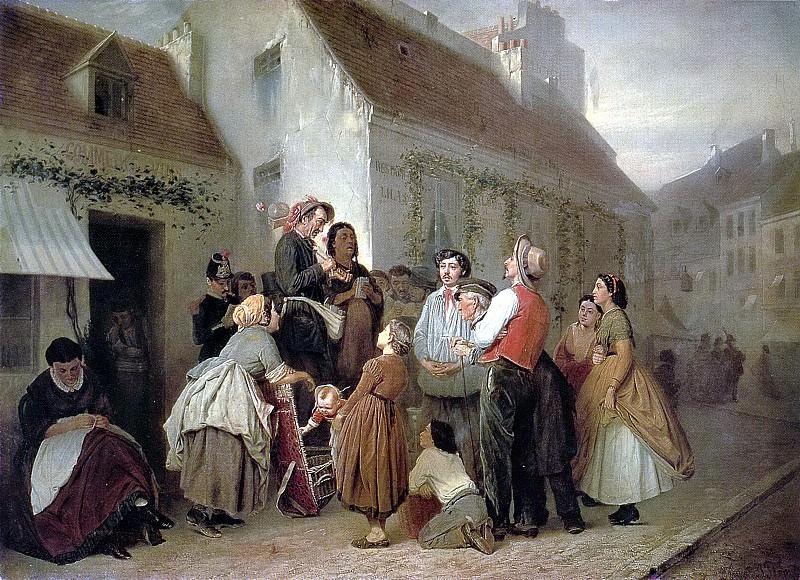Продавец песенников. (Неоконч. ) 1863-64 Х. , м. 76, 5х102, 5 ГТГ. Василий Григорьевич Перов