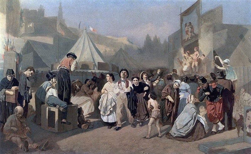 Holiday in the vicinity of Paris (in Montmartre). (Neokonch.), 1863-64 H., m. 79, 5h130 TG. Vasily Perov